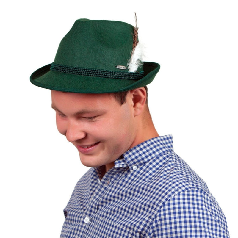 Oktoberfest Costume Felt Party Hat Green