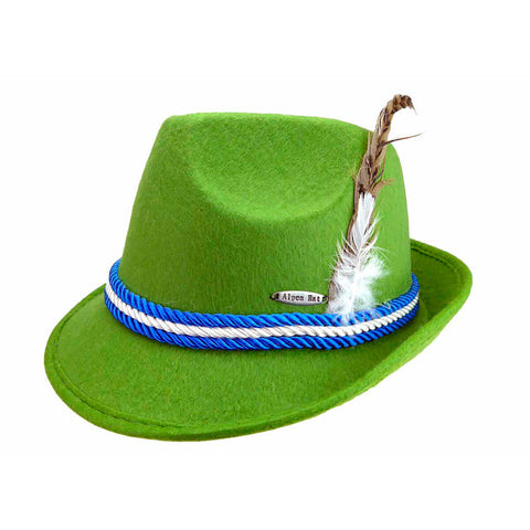 Oktoberfest Felt Fedora Party Hat Mint Green