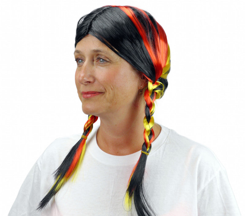 Oktoberfest Wig with Colors of Germany - Apparel-Costumes, German, Germany, Hats, Hats- Braids, Hats-Kids, Hats-Party, Hats-Wigs, Oktoberfest