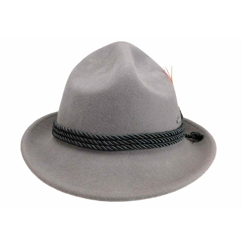 German Bavarian Style 100% Wool Gray Hat