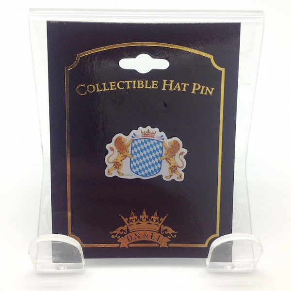 Bavarian Coat of Arms Oktoberfest Hat Pin - Apparel-Costumes, CT-540, German, Germany, Hat Pins, Oktoberfest, PS-Party Favors, PS-Party Favors German - 2