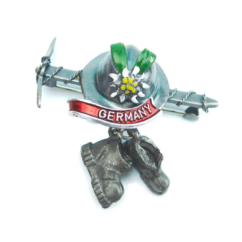 Ice Axe & Hiking Boots German Hat Pin