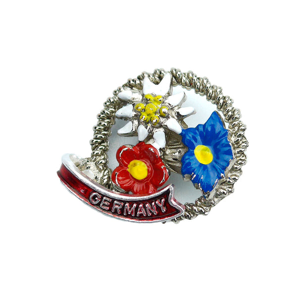 Alpine Edelweiss Flowers German Hat Pin