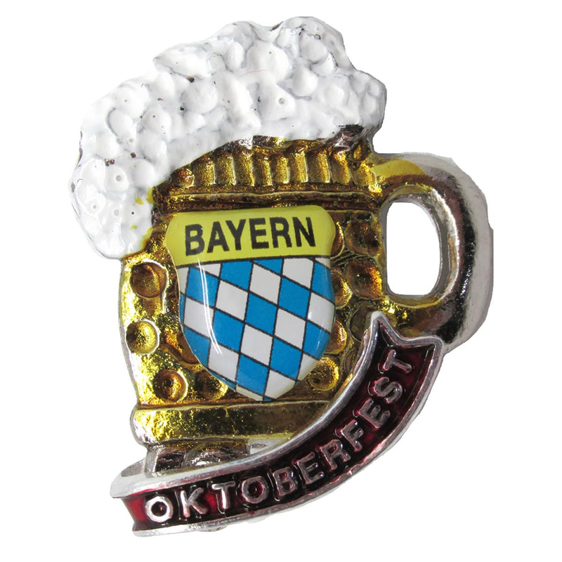 Collectible Oktoberfest Beer Mug Deluxe German Hat Pin