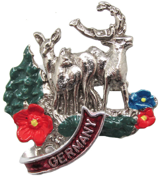 Collectible Alpine Stags Deluxe German Hat Pin