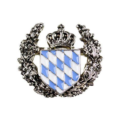 German Themed Bavarian Coat of Arms Hat Pin
