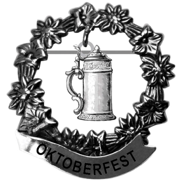 Medallion Beer Stein Oktoberfest Hat Pin for German Hat