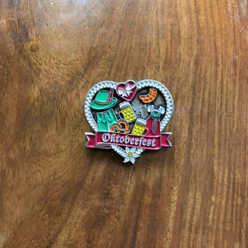 German Hunting Hat Pin with Oktoberfest Themed
