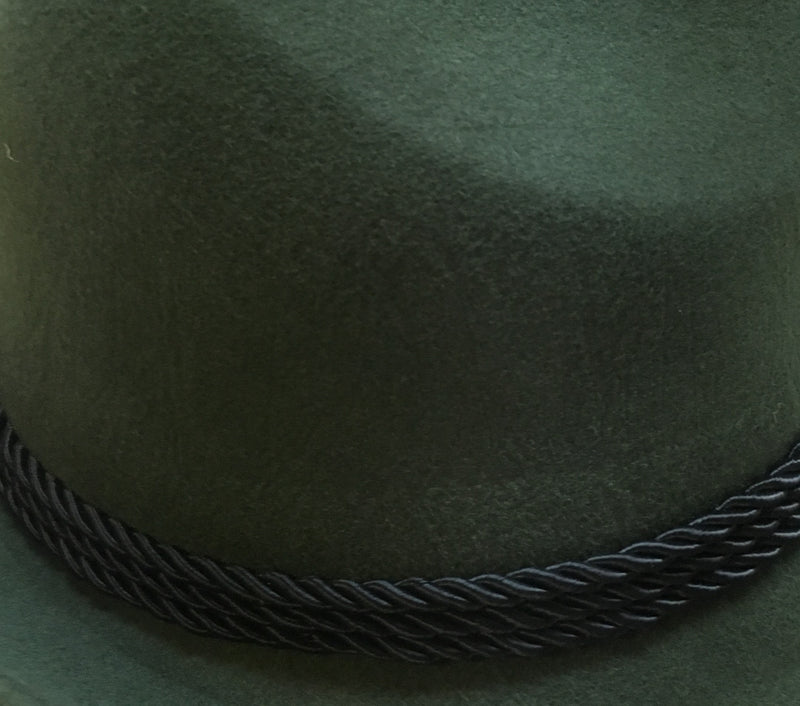 German Bavarian Style 100% Wool Green Hat