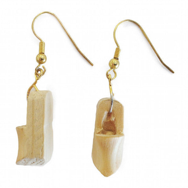 Dutch Wooden Shoe Earrings - Apparel-Costumes, Dutch, Earrings, Jewelry, wood