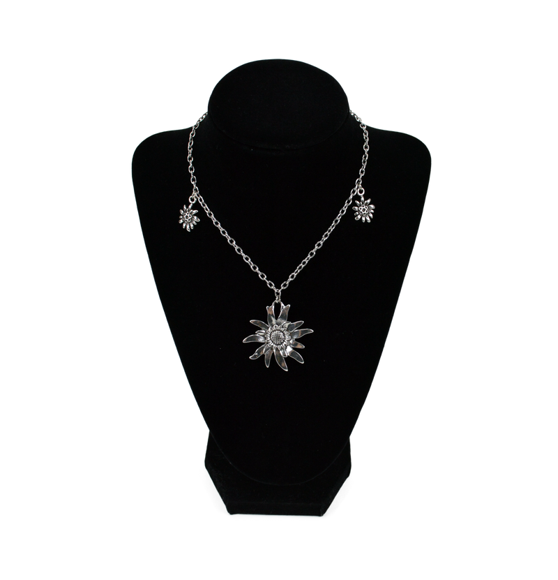 German Edelweiss Necklace - Apparel-Costumes, Edelweiss, German, Germany, Jewelry, Top-GRMN-A