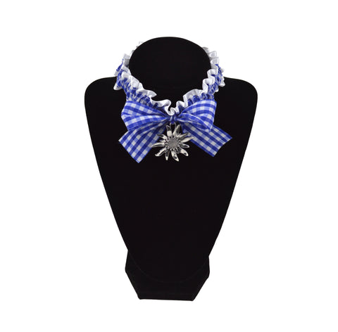 Bavarian Pattern Collar with Edelweiss Oktoberfest Pendant