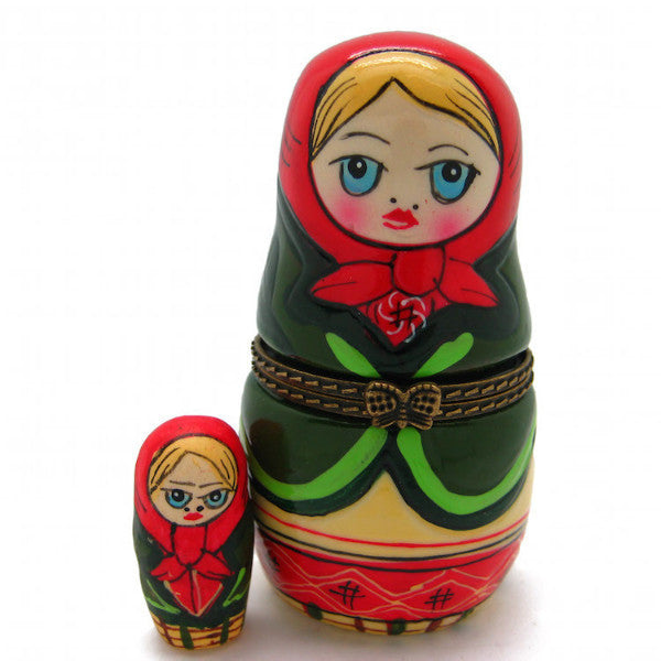 Children's Russian Nesting Doll Jewelry Boxes