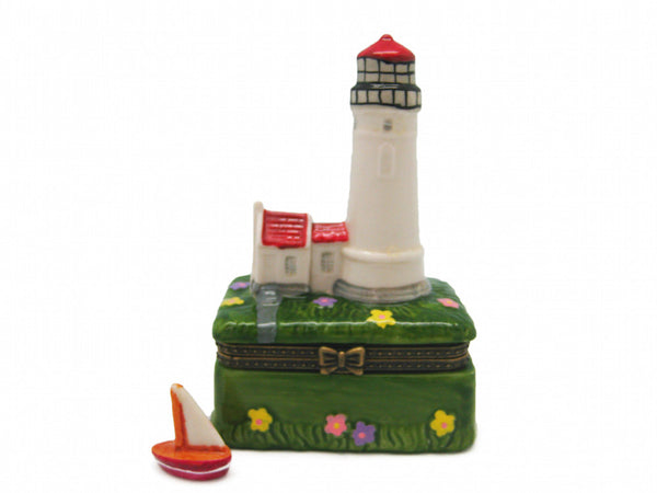 Red Lighthouse Jewelry Boxes