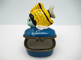 Yellow Fish Jewelry Boxes - Collectibles, Figurines, General Gift, Hinge Boxes, Hinge Boxes-General, Home & Garden, Jewelry Holders, Kids, Toys - 2
