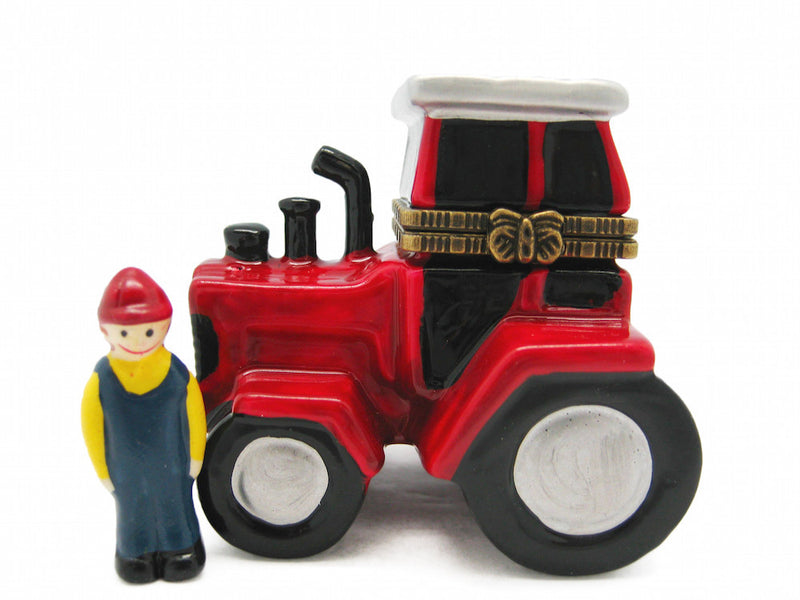 Red and White Tractor Jewelry Boxes - Collectibles, Figurines, General Gift, Hinge Boxes, Hinge Boxes-General, Home & Garden, Jewelry Holders, Kids, PS-Party Favors, Toys