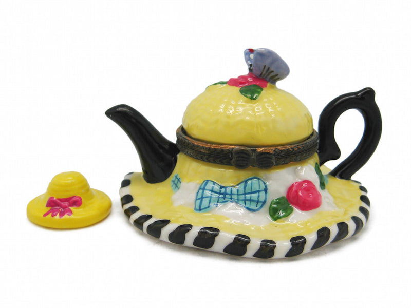 Straw Hat & Tea Pot Treasure Boxes - Coffee & Tea Sets, Collectibles, Figurines, General Gift, Hinge Boxes, Hinge Boxes-General, Home & Garden, Jewelry Holders, Kids, PS-Party Favors, Tea, Tea Pots, Toys