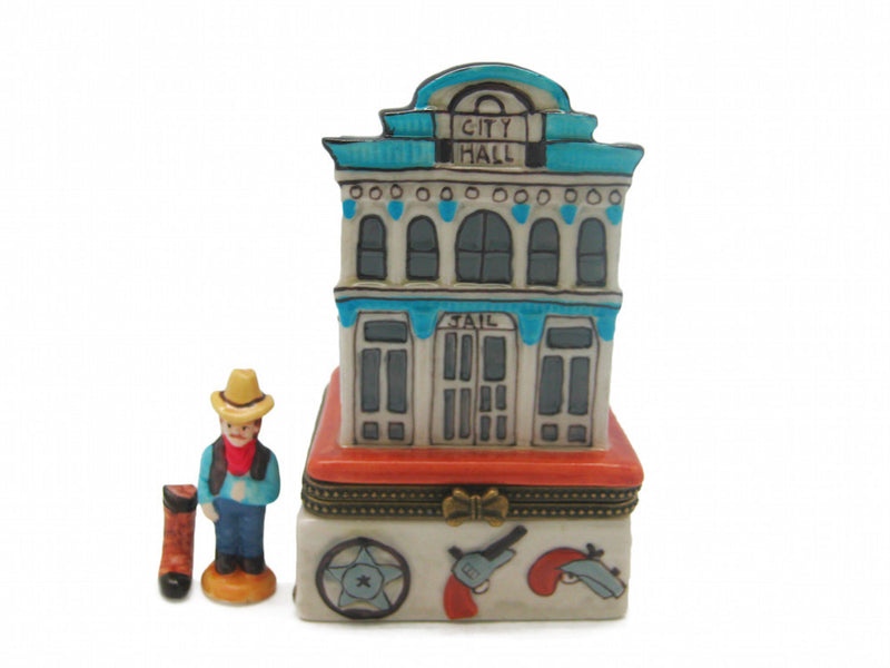 Western City Hall & Jail Treasure Boxes - Collectibles, Figurines, General Gift, Hinge Boxes, Hinge Boxes-Western, Home & Garden, Jewelry Holders, Kids, Toys, Western
