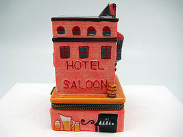 Western Saloon and Hotel Treasure Boxes - Collectibles, Figurines, General Gift, Hinge Boxes, Hinge Boxes-Western, Home & Garden, Jewelry Holders, Kids, Toys, Western - 2 - 3 - 4