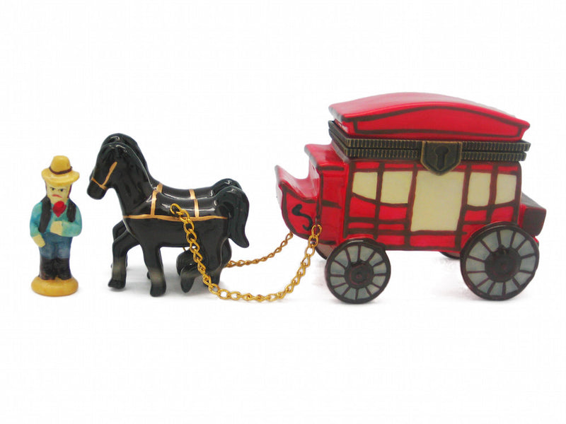 Western Stagecoach Treasure Boxes - Animal, Collectibles, Figurines, General Gift, Hinge Boxes, Hinge Boxes-Western, Home & Garden, Jewelry Holders, Kids, Toys, Western