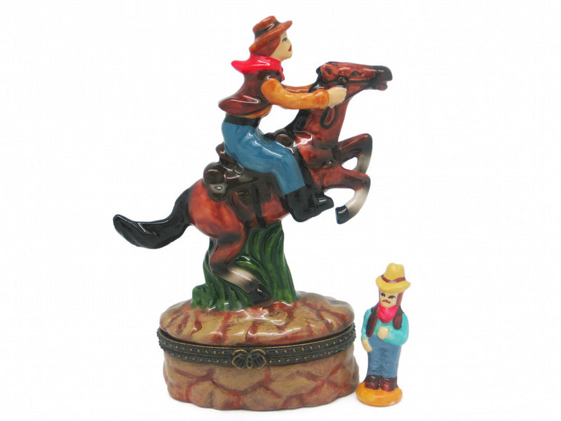 Western Cowboy Treasure Boxes - Collectibles, Figurines, General Gift, Hinge Boxes, Hinge Boxes-Western, Home & Garden, Jewelry Holders, Kids, Toys, Western