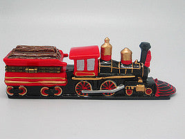 Train Collectibles American Wooden Fuel Hinge Box - Collectibles, Figurines, General Gift, Hinge Boxes, Hinge Boxes-Western, Home & Garden, Jewelry Holders, Kids, Toys, Train, Western - 2