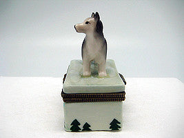 Husky Jewelry Boxes - Animal, Collectibles, Figurines, General Gift, Hinge Boxes, Hinge Boxes-General, Home & Garden, Jewelry Holders, Kids, Toys - 2 - 3 - 4 - 5