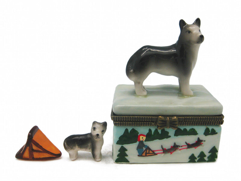 Husky Jewelry Boxes - Animal, Collectibles, Figurines, General Gift, Hinge Boxes, Hinge Boxes-General, Home & Garden, Jewelry Holders, Kids, Toys