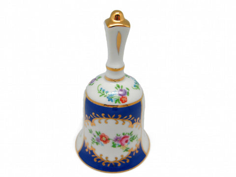 Victorian Antique Bell Jewelry Box Royal Blue