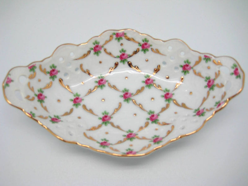 Victorian Desert Rose Dish Jewelry Box - Below $10, Collectibles, Decorations, General Gift, Home & Garden, Jewelry Holders, Toys - 2