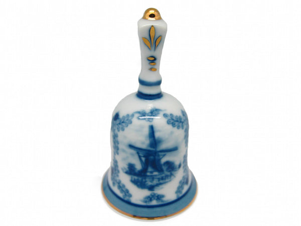 Victorian Antique Bell Jewelry Box Delft Blue