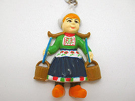 Dutch Souvenir Dutch Girl&Buckets Keychain