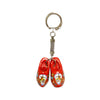 Dutch Wooden Shoes Keychain Natural