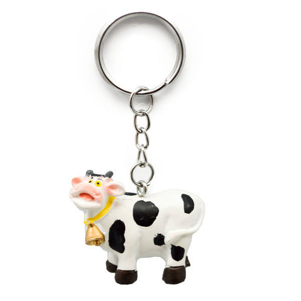Novelty Cow Keychain made of Poly Resin
