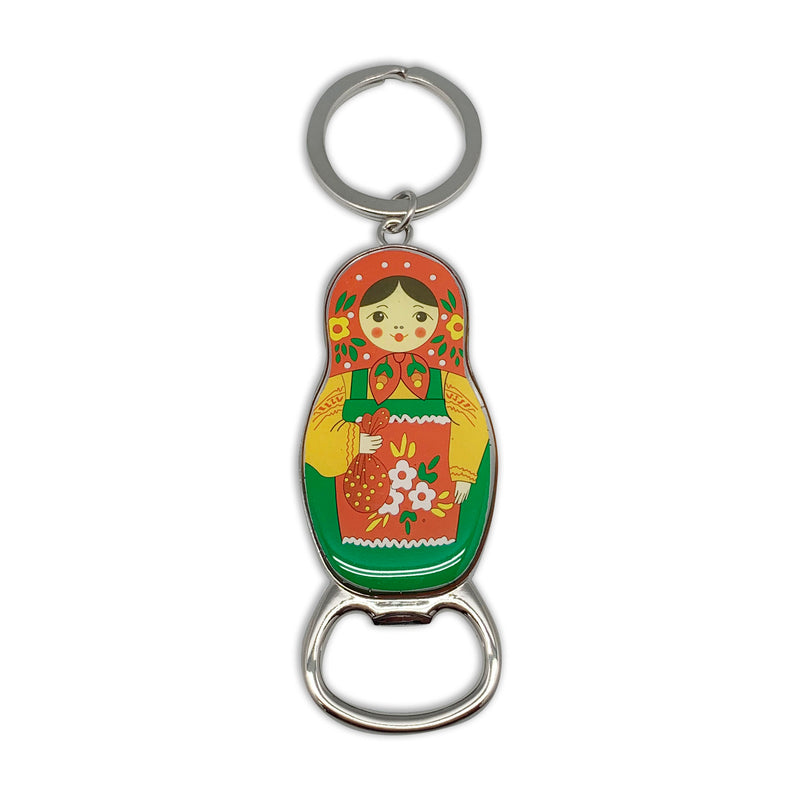 Russian Doll Bottle Opener Keychain