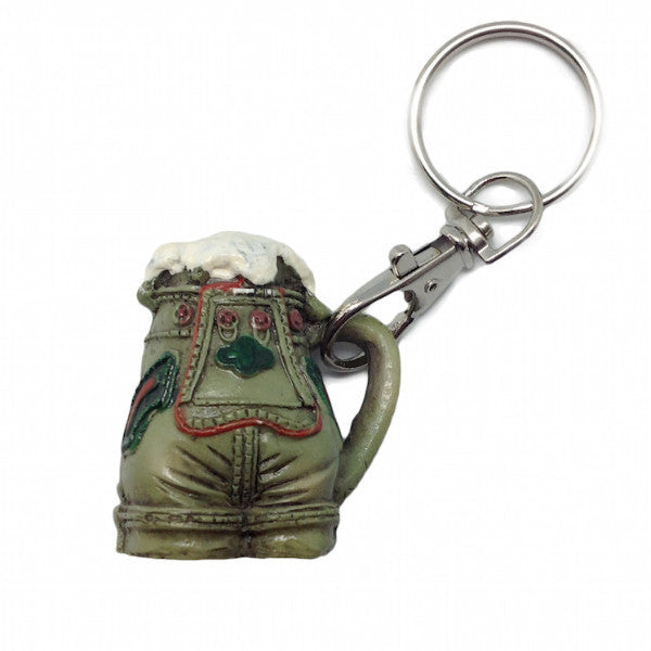 Oktoberfest Party Lederhosen Beer Stein Keychain - Alcohol, Apparel & Accessories, Collectibles, CT-550, German, Germany, Key Chains, Key Chains-German, PS- Oktoberfest Party Favors, PS-Party Favors, PS-Party Favors German, Top-GRMN-B, Toys