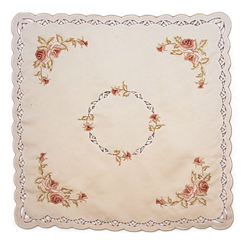Burgundy Rose Table Cloth 54x54