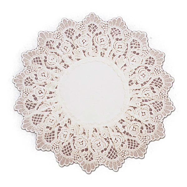 Deluxe Ecru European Lace Rose Wedding Linen Round