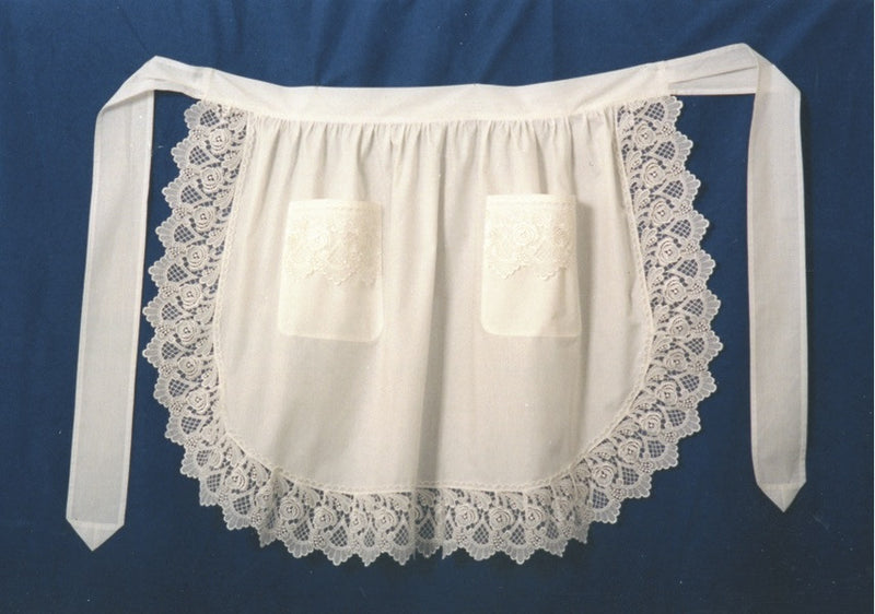 Deluxe Adult Victorian Lace Costume Half Apron Beige - $20 - $30, Apparel- Aprons - Half, Apparel-Costumes, Apparel-Kitchenware, CT-700, Ecru, General Gift, Top-GNRL-B - 2 - 3 - 4 - 5