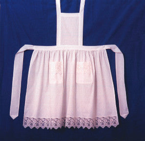 Deluxe Adult Victorian Lace Costume Full Apron White - $20 - $30, Apparel- Aprons - Full, Apparel-Costumes, Apparel-Kitchenware, CT-700, Ecru, General Gift, lace, PS-Party Favors, Top-GNRL-A, victorian, White - 2 - 3 - 4 - 5 - 6