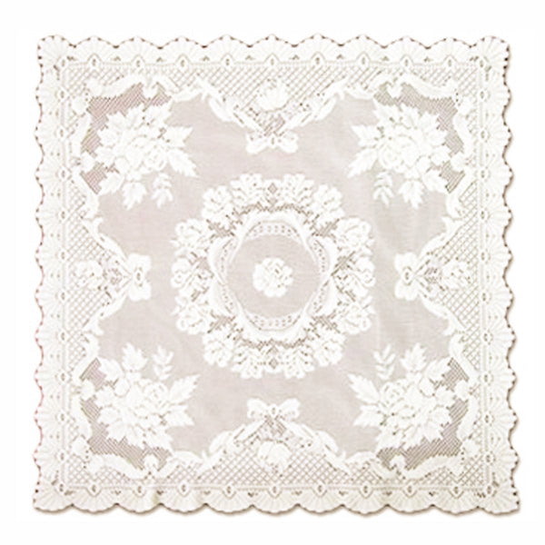 Alpine Rose Ecru Square Table Linen