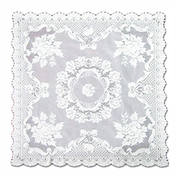 Oktoberfest Alpine Rose Rectangular White Table Linen