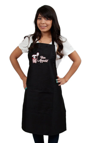 French Bon Appetit! Black Apron