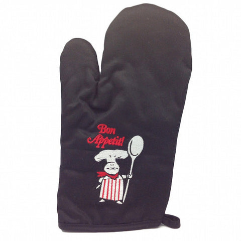French Bon Appetit! Mitten Black