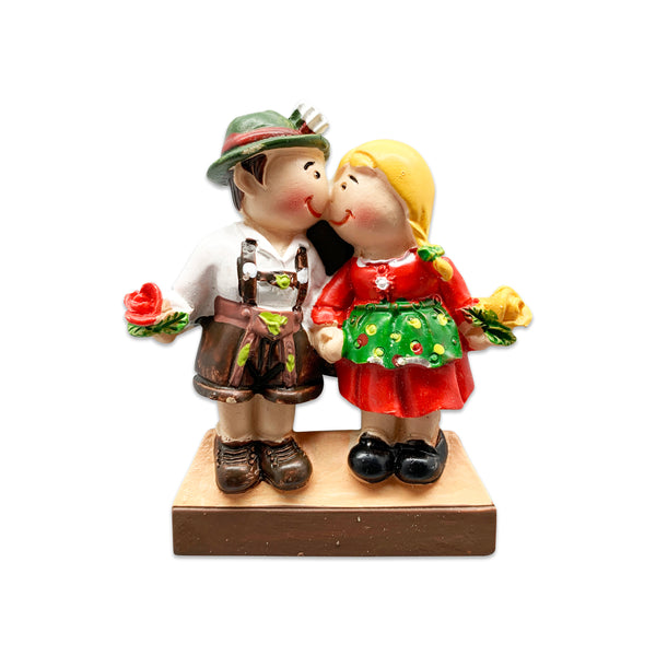 German Couple Refrigerator Magnet