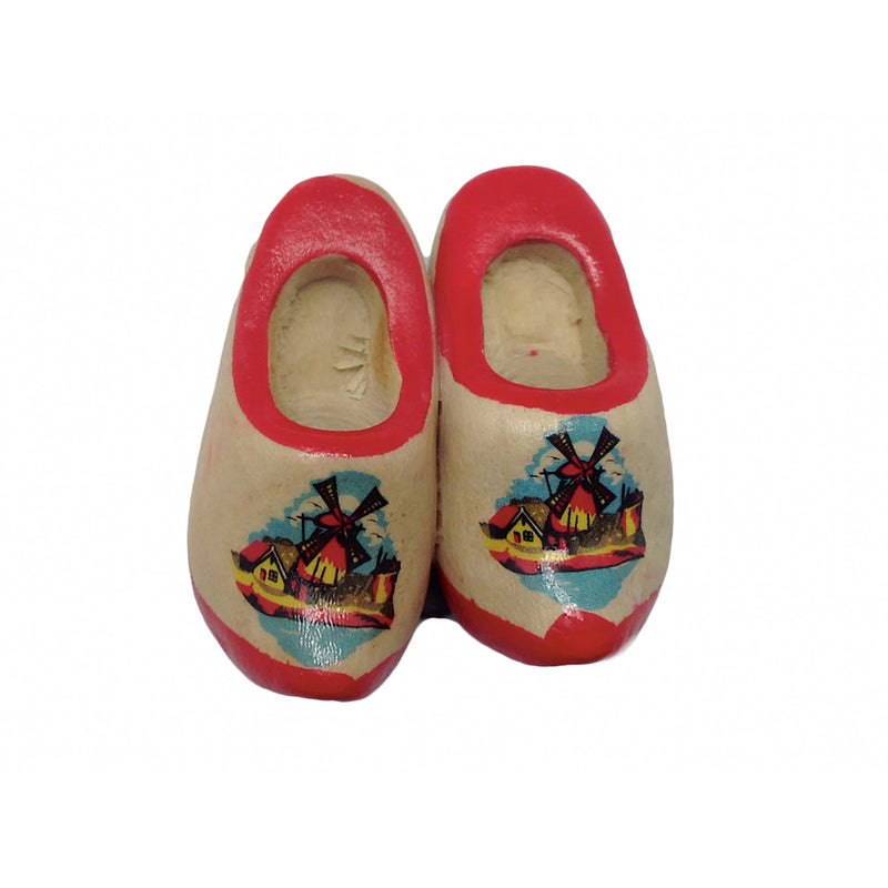 Wooden Shoes with Red Trim Magnetic Gift
