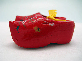 Unique Magnet Holland Wooden Shoes Red 1.75 inches - Below $10, Collectibles, CT-600, Decorations, Dutch, Home & Garden, Kitchen Magnets, Magnets-Refrigerator, PS-Party Favors, PS-Party Favors Dutch - 2