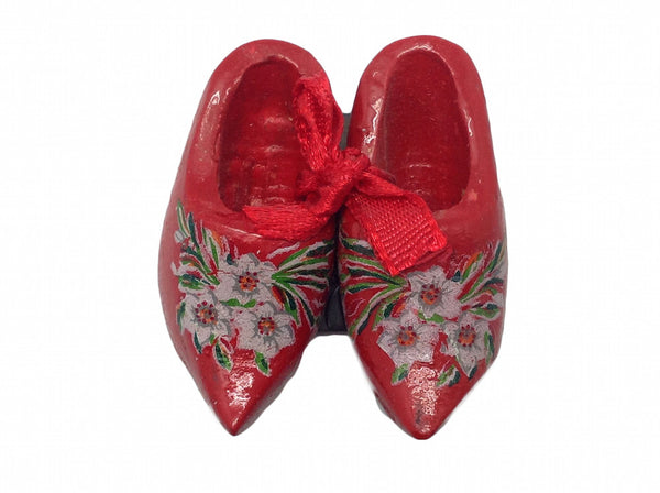 Unique Magnet Dutch Clogs Red 1.75