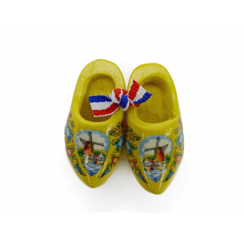 Wooden Shoes Magnetic Yellow