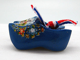 Wooden Shoes Magnetic Blue - 1.5 inches, 2.5 inches, Blue, Collectibles, CT-600, Decorations, Dutch, Home & Garden, Kitchen Magnets, Magnets-Dutch, Magnets-Refrigerator, Netherlands, PS-Party Favors, PS-Party Favors Dutch, Size, Top-DTCH-B, Tulips, wood, Wooden Shoes - 2